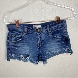 Free People Distressed shortie shorts size 24